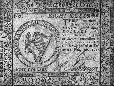 Photograph - Continental Currency, 1777 by Granger