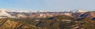 Snow Photograph - Continental Divide Rocky Mountain Snowy Peaks Panorama by James BO  Insogna