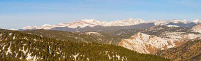 Snowy Photograph - Continental Divide Rocky Mountain Snowy Peaks Panorama Pt1 by James BO  Insogna