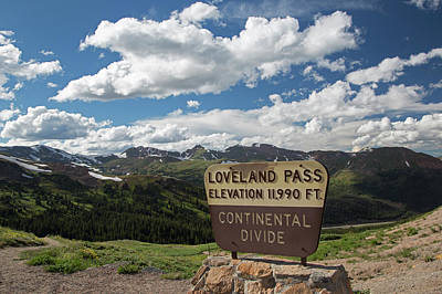 Marker Wall Art - Photograph - Continental Divide Sign by Jim West