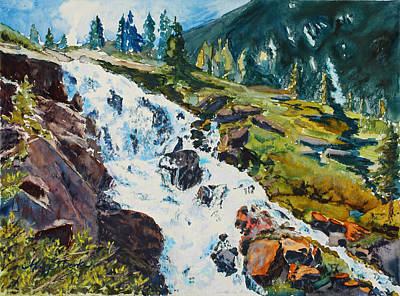 Continental Falls Art Print by Mary Benke