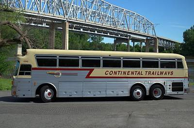 Photograph - Continental Trailways Bus by Tim McCullough