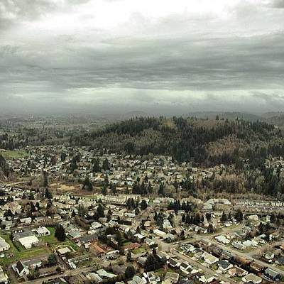 Helicopter Photograph - Continues To Be Rainy Here In Portland by Mike Warner