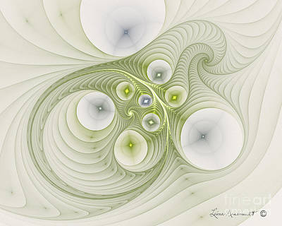 Digital Art - Continuous Spiral by Leona Arsenault