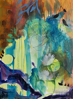 Print featuring the painting Continuum by Robin Maria Pedrero
