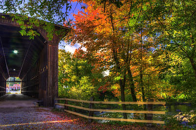 Photograph - Contoocook Covered Bridge In Autumn by Joann Vitali