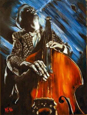 Painting - Contra-bass by Em Kotoul