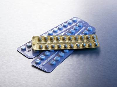 Pill Photograph - Contraceptive Pills In Blister Packs by Science Photo Library