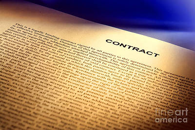 Contract Art Print by Olivier Le Queinec