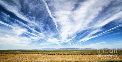Contrail Photograph - Contrails by Holly Martin