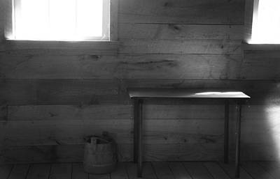 Cabin Window Photograph - Contrast Composition by Dan Sproul