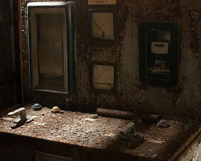 Photograph - Control Panel In Decay by Marinus Ortelee