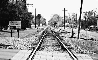 Train Tracks Photograph - Control Point Prairieville by Scott Pellegrin