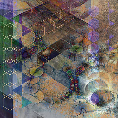 Digital Art - Controlled Chaos - Square Version by John Beck