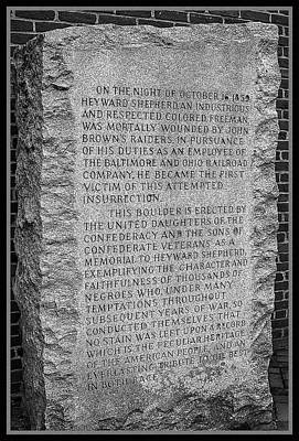 Photograph - Controversial Faithful Slave Monument At Harpers Ferry  by Phil Cardamone