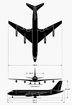 Photograph - Convair 880 Jet Airliner by Granger