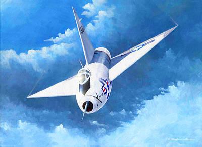Painting - Convair Xf-92a by Douglas Castleman