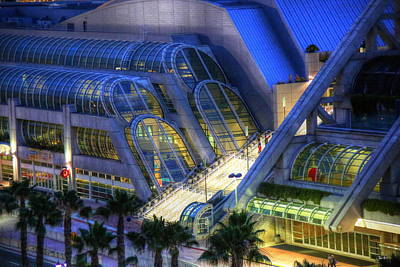 San Diego Convention Center Photograph - Conventional Blue by Russ Harris