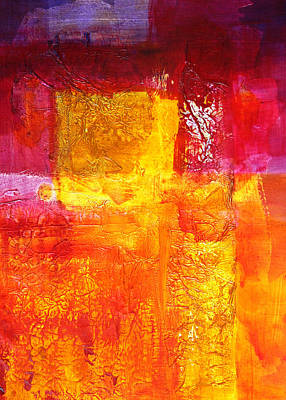 Rose. Collage Painting - Converging Abstract Collage Painting by Nancy Merkle