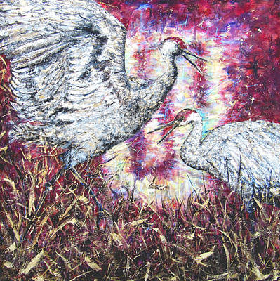 Painting - Conversation Of Passion by Brenda Berdnik