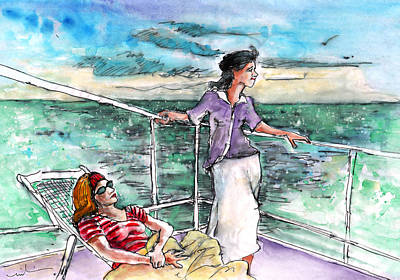 Painting - Conversation On Deck 02 by Miki De Goodaboom