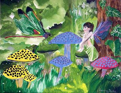 Toadstools Painting - Conversation by Sunny Hicks