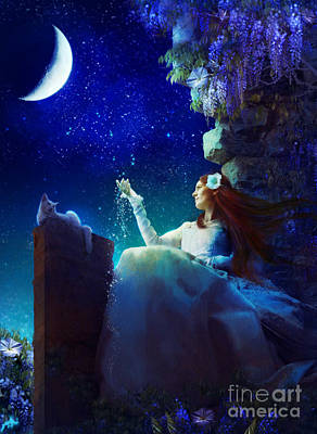 Conversation With The Moon Art Print by Aimee Stewart