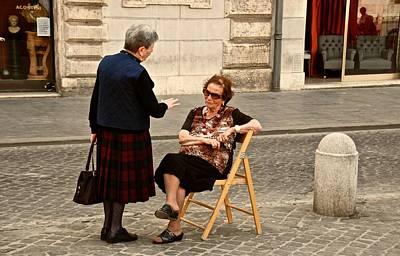 Photograph - Conversational Italian by Eric Tressler