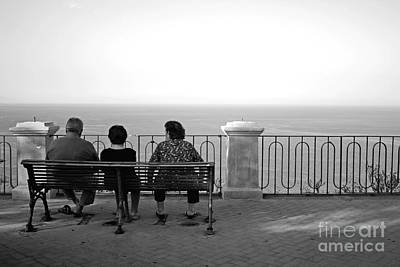 Conversations By The Sea Art Print