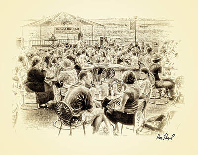 Conversations In Black And White Art Print by Ron Pearl