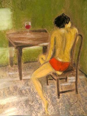 Female Pastel - Conversations With You by C Pichura