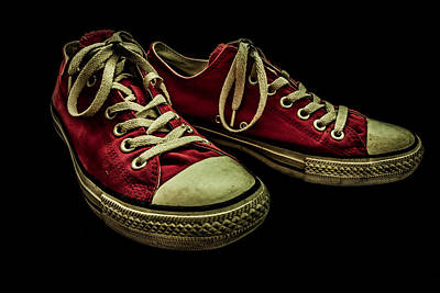 Converse No 2 - Red Art Print by Lubos Kavka