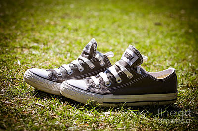 Jogging Photograph - Converse Pumps by Jane Rix