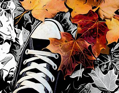 Converse Shoe Digital Art - Conversely by Jared Johnson
