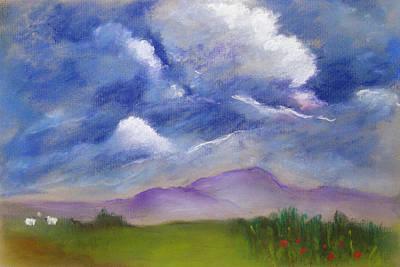 Pastel - Conversing by Gloria Dietz-Kiebron