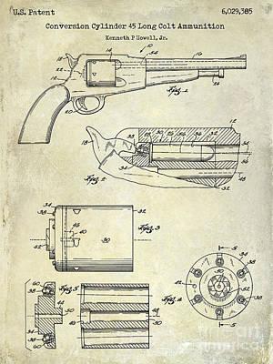 Long Rifle Photograph - Conversion Cylinder 45 Long Colt Ammunition by Jon Neidert