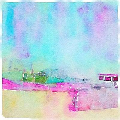 Abstract Landscape Photograph - Converted An Acrylic To A Watercolor by Donna Johnson