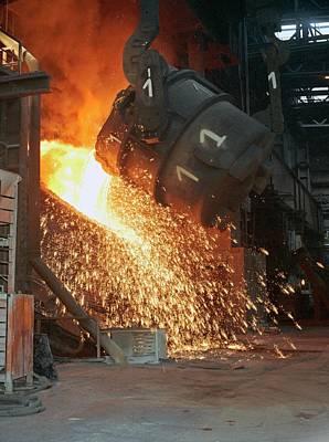 Purified Photograph - Converter Steelmaking by Dirk Wiersma