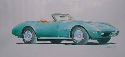 Painting - Convertible  by John  Svenson