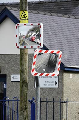 Distort Photograph - Convex Traffic Mirrors by Cordelia Molloy