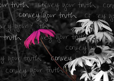 Art Print featuring the photograph Convey Your Truth by Lauren Radke