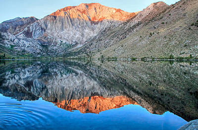 Convict Lake At Sunrise Art Print by Donna Kennedy
