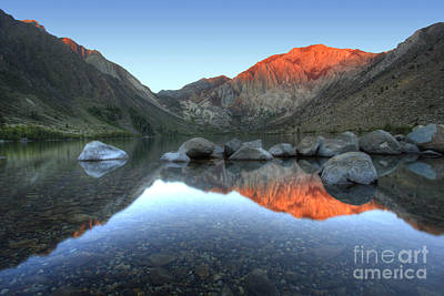 Mammoth Lakes Photograph - Convict Lake First Light by Marco Crupi