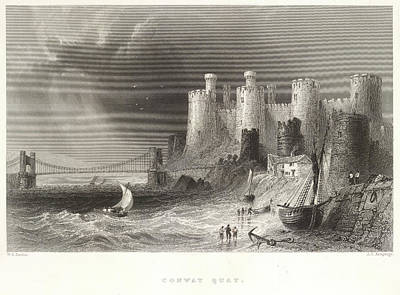 Conwy Castle Photograph - Conway Quay by British Library