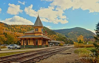 Photograph - Conway Scenc Railroad Station - Crawford Depot by Adam Jewell