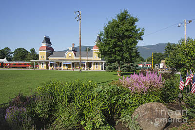 Railroad Park Photograph - Conway Scenic Railroad - North Conway New Hampshire Usa by Erin Paul Donovan