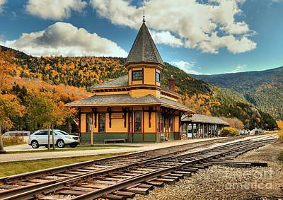 Photograph - Conway Scenic Railroad Stop by Adam Jewell