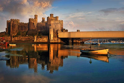 Wall Art - Photograph - Conwy Castle And Boats by Mal Bray