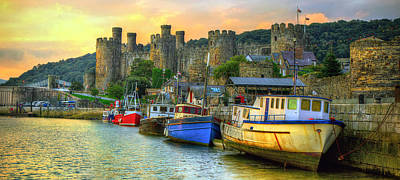 Conwy Castle And Harbour Art Print