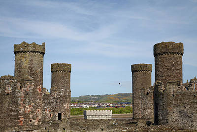 Conwy Castle Photograph - Conwy Castle (circa 1287 by David Wall